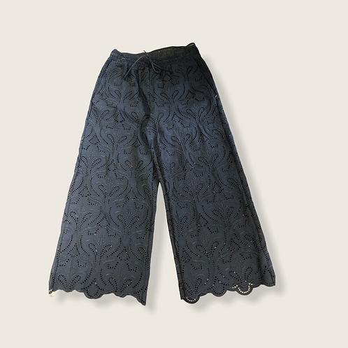 Pantalone sangallo elastico e cordoncino in vita