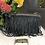 Thumbnail: Borsa MOD. Yoko - velvet off black misura 25x16x3