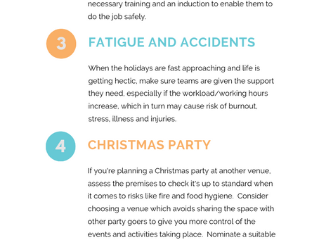 Simple workplace safety tips for the festive season