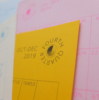 Riso Printed Wall Planner