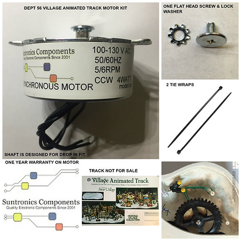 DEPARTMENT 56,Dept56- VILLAGE ANIMATED TRACK REPLACEMENT MOTOR -PARTS KIT