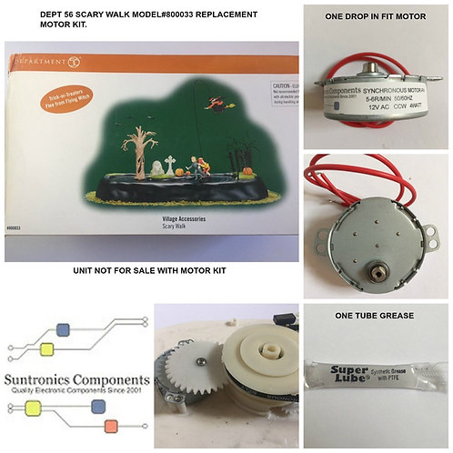 DEPT 56 Animated Scary Walk-model:800033- REPLACEMENT MOTOR -PARTS KIT