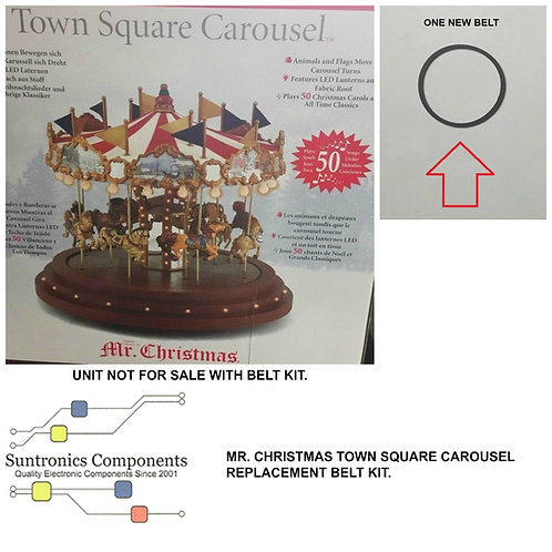 MR. CHRISTMAS TOWN SQUARE  CAROUSEL  REPLACEMENT BELT KIT