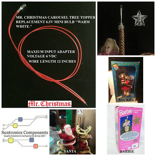 Mr. Christmas Carousel Tree Topper Replacement Bulb