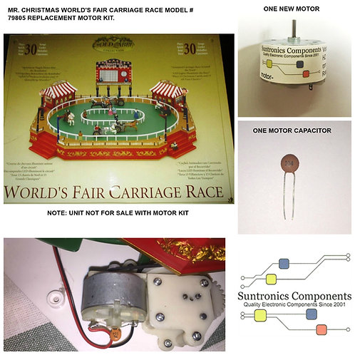 Mr. Christmas World's Fair Carriage race model# 79805  PART MOTOR KIT