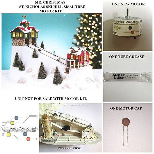 MR CHRISTMAS -ST NICHOLAS SKI HILL-SISAL TREE -REPLACEMENT PART - MOTOR KIT
