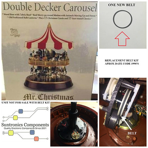 MR. CHRISTMAS DOUBLE DECKER CAROUSEL  REPLACEMENT BELT KIT