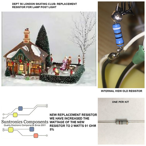 DEPARTMENT 56-LONDON SKATING CLUB-56.58700- REPLACEMENT RESISTOR -PARTS KIT