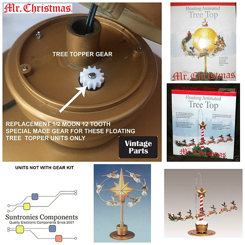Mr Christmas Animated Floating Tree Top Gear