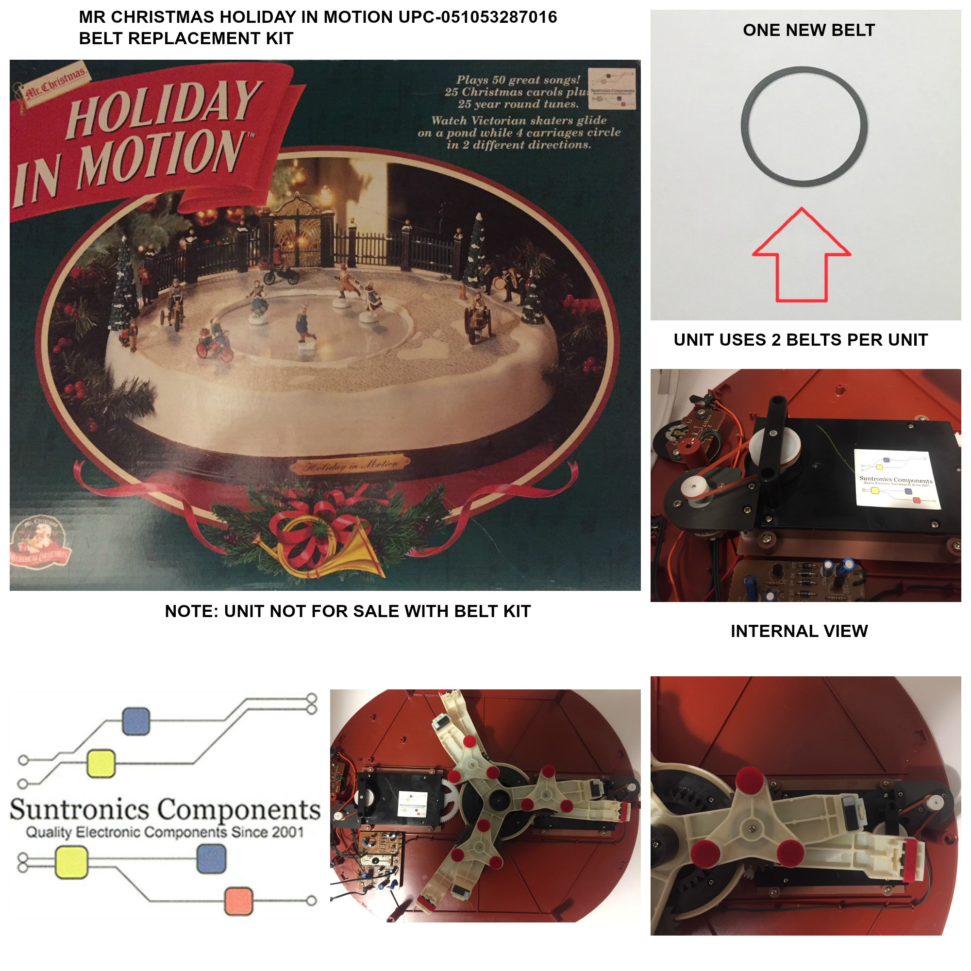 PicMonkey Image MR CHRISTMAS HOLIDAY IN MOTION UPC CODE 051053287016 BELT  KIT