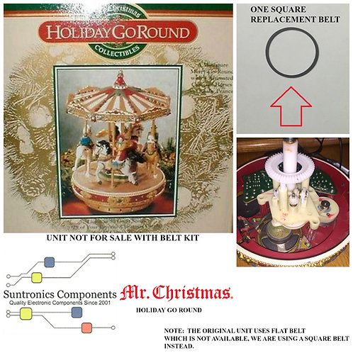 MR. CHRISTMAS HOLIDAY GO ROUND or similar models REPLACEMENT BELT KIT