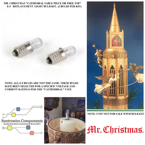 Mr Christmas Cathedral Table Piece OR Tree Top Bulb Kit.