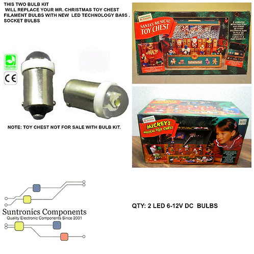 MR CHRISTMAS MUSICAL TOY CHEST REPLACEMENT LED 2-BULBS