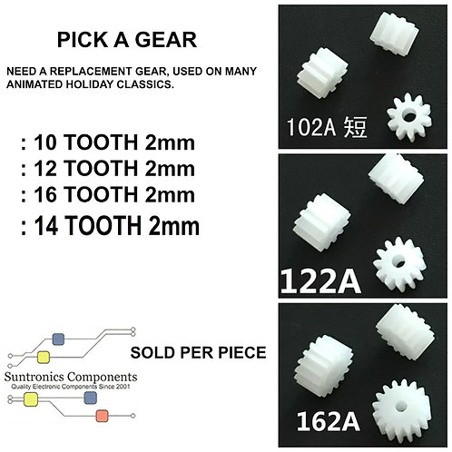 PICK A GEAR 10T,  12T, 14T, 16T 2.0mm TIGHT HOLE