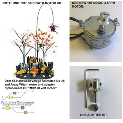 PicMonkey ImageDept 56 Halloween Village Animated Up Up and Away WitchMOTOR ADAPTER KIT