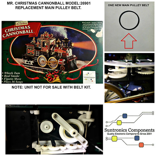 Mr. Christmas CANNONBALL TRAIN -1 Belt Repair kit