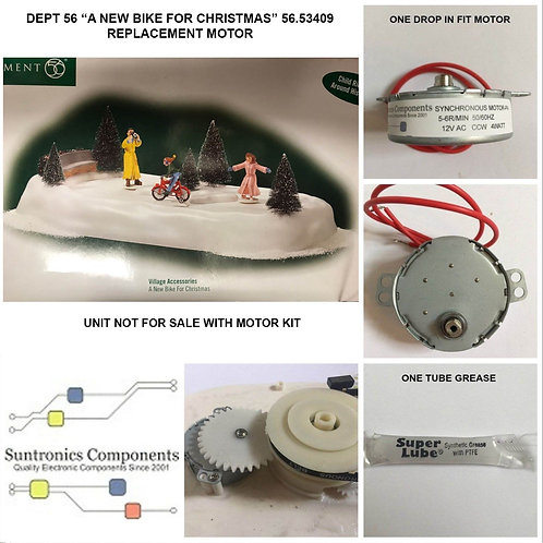 DEPT 56 A New Bike For Christmas -model:56.53409- REPLACEMENT MOTOR -PARTS KIT