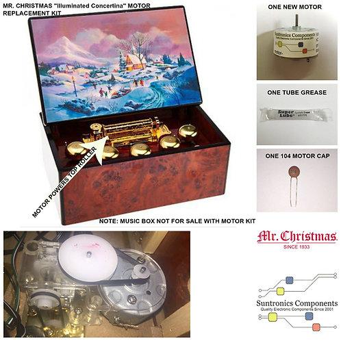 "MR. CHRISTMAS ""Illuminated Concertina"" MUSIC BOX Motor KIt"