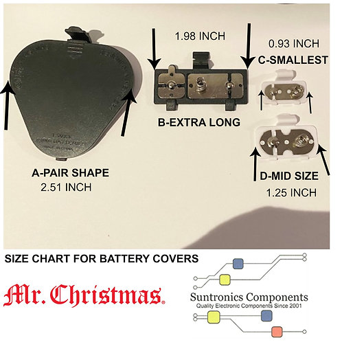 MR. CHRISTMAS REPLACEMENT BATTERY COVERS