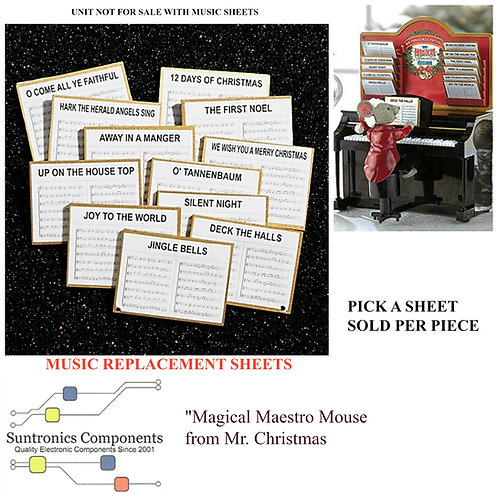Mr. Christmas Magical Maestro Mouse Replacement sheets
