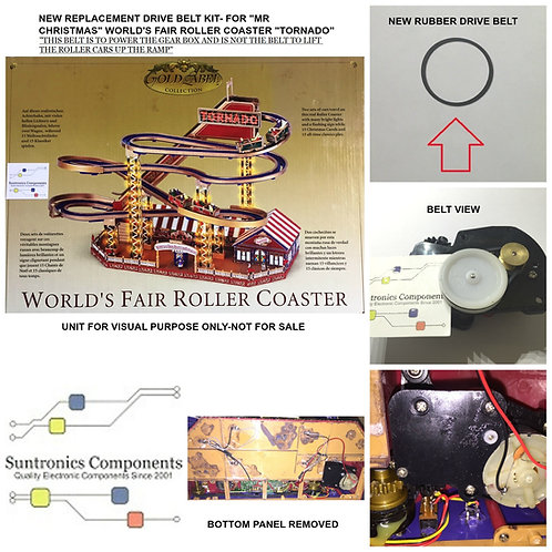Mr Christmas World's fair Roller Coaster Tornado- PART - non toothed PULLEY BELT