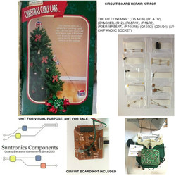 mr christmas cable cars circuit board re