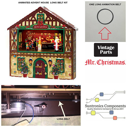 Mr. Christmas Animated Advent House  long belt kit