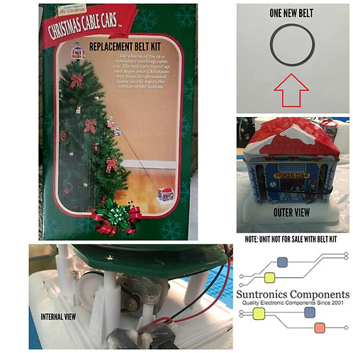 Mr. Christmas Cable Cars Replacement Belt Kit.