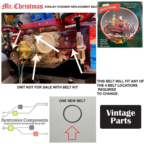 Mr. Christmas Stanley Steamer (aprox 2000 date codes) replacement belt
