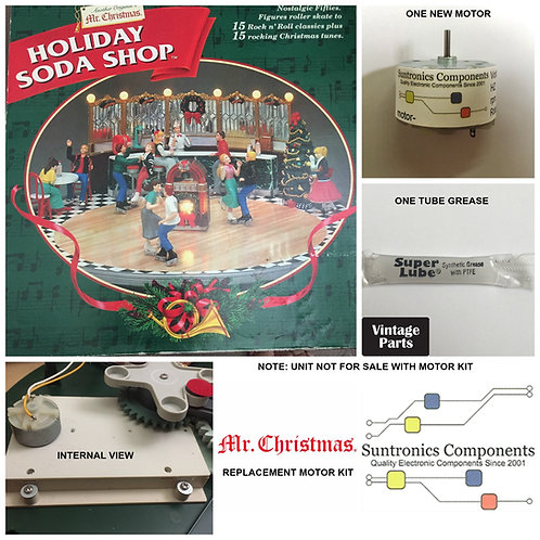 Mr. Christmas Holiday Soda Shop (1998) motor kit
