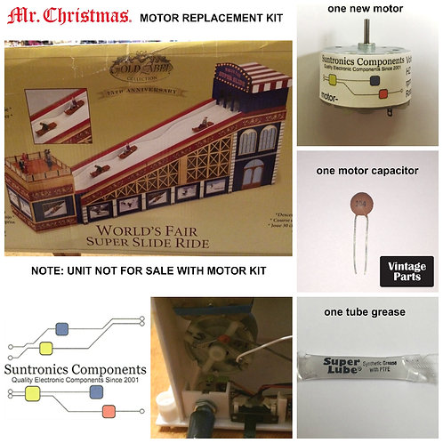Mr. Christmas World's Fair Super Slide Ride Motor Kit