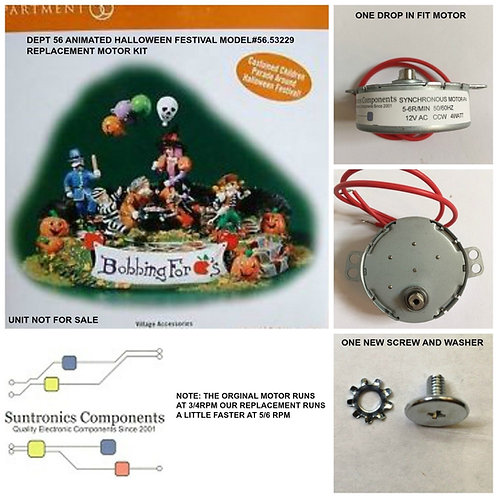 DEPT 56 Animated Halloween Festival-model:56.53229- REPLACEMENT MOTOR -PARTS KIT