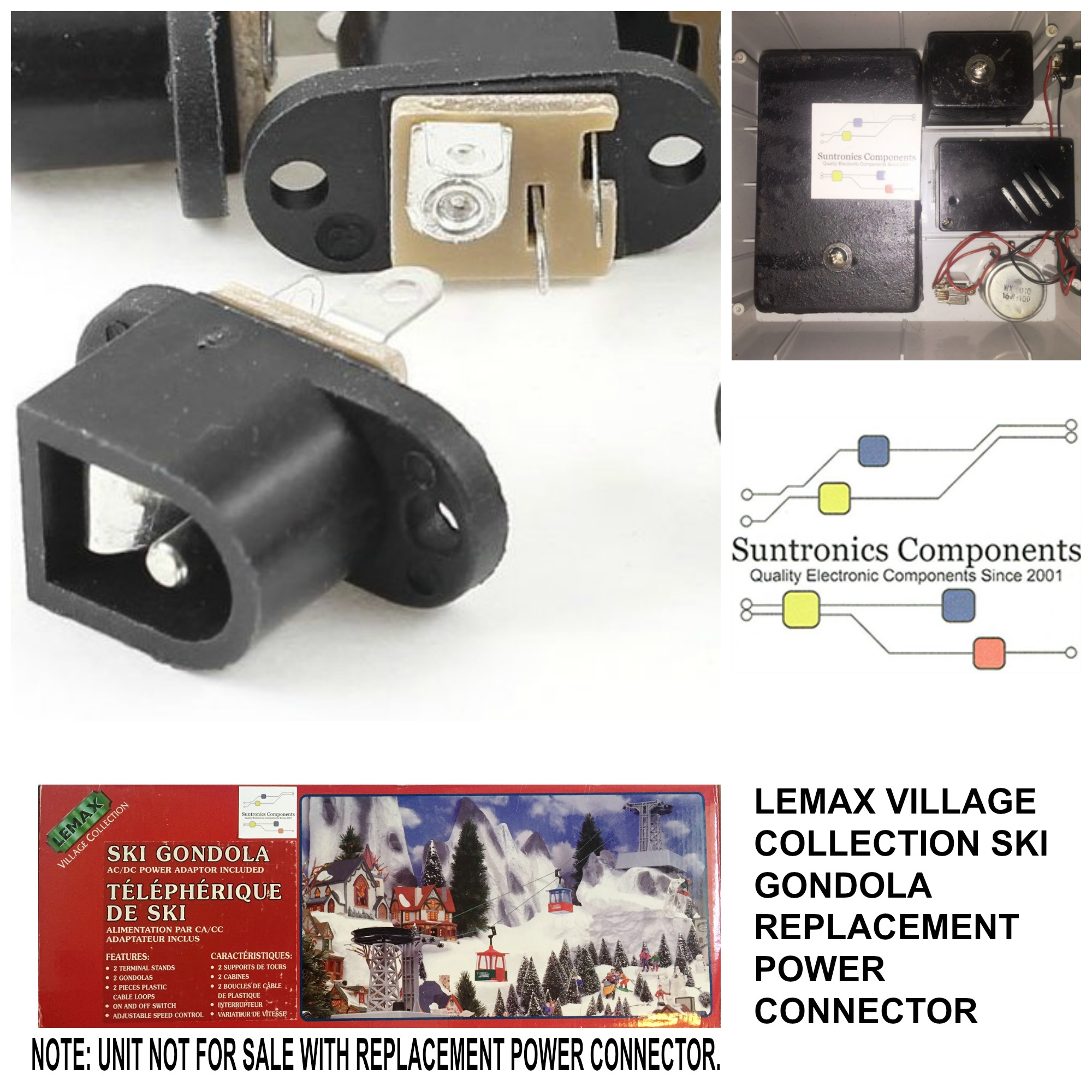 PicMonkey Image LEMAX VILLAGE COLLECTION SKI GONDOLA POWER CONNECTOR