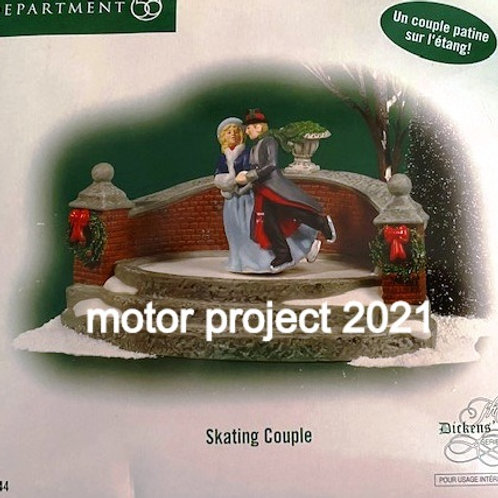"DEPARTMENT 56 "" skating couple""799944"