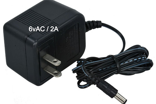 AC to 6VAC/2A Wall Adapter Transformer 6.0 VAC @ 2000MA