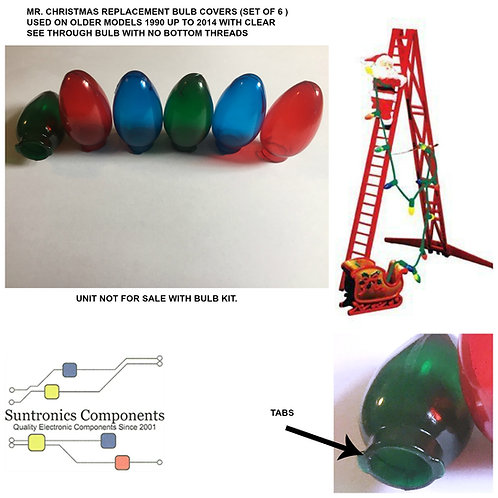 MR. CHRISTMAS REPLACEMENT BULB COVERS