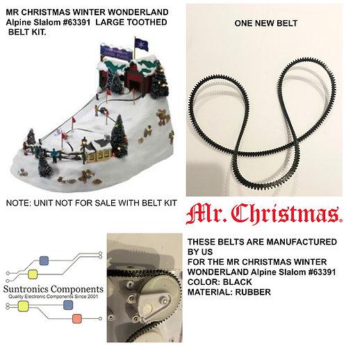 "Mr. Christmas Winter Wonderland ""Alpine Slalom  Belt"