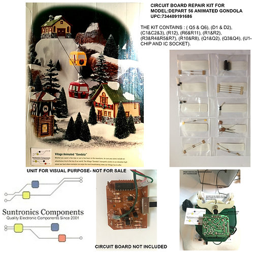 Dept 56 -Village Animated Gondola -Circuit Board repair kit-upc:734409191686