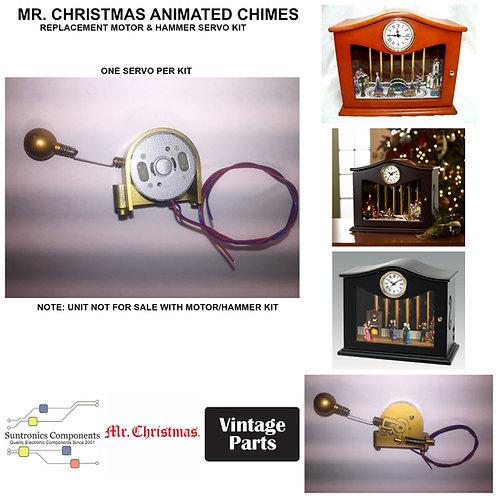 MR. CHRISTMAS ANIMATED MUSICAL CHIMES CLOCK SERVO