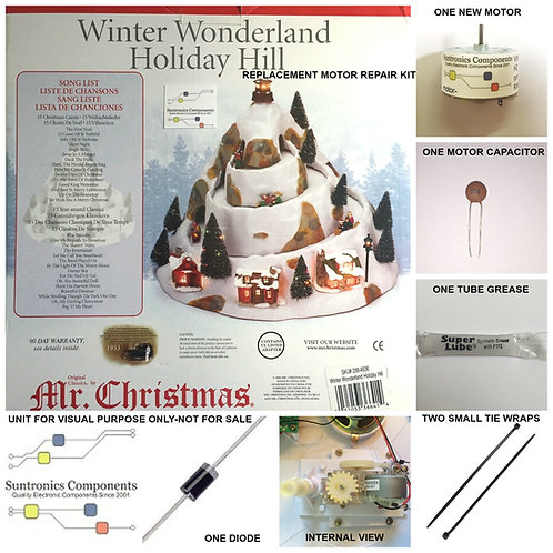 Mr Christmas Winter Wonderland Holiday Hill - PART - MOTOR KIT MODEL:288-4936