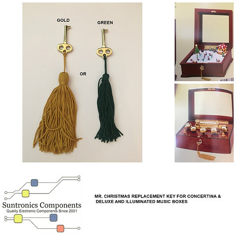 MR. CHRISTMAS REPLACMENT KEY IN GOLD OR GREEN COLOR TASSEL.
