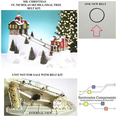 MR CHRISTMAS -ST NICHOLAS SKI HILL-SISAL TREE :REPLACEMENT PARTS- BELT
