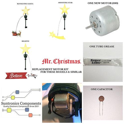 Mr. Christmas Animated Revolving Tree Topper or Similar motor kit.