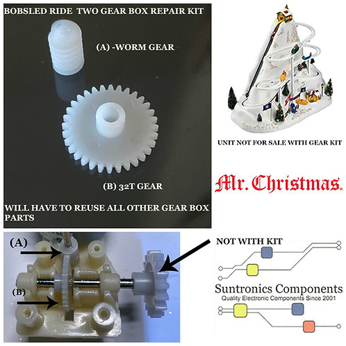 Mr Christmas Bobsled ride 2 gear kit