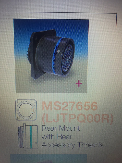 """""""MS27656"""" MARTIX REAR MOUNT CONNECTOR SHELL ONLY, NO PINS"""
