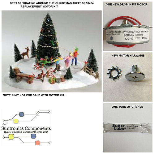DEPT 56  Skating Around The Christmas Tree-model:56.53424- REPLACEMENT MOTOR