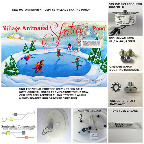 DEPARTMENT 56, Village Animated Skating Pond- REPLACEMENT MOTOR- PARTS