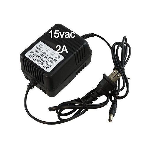 AC to 15VAC Wall Adapter Transformer 15VAC @ 2000 mA