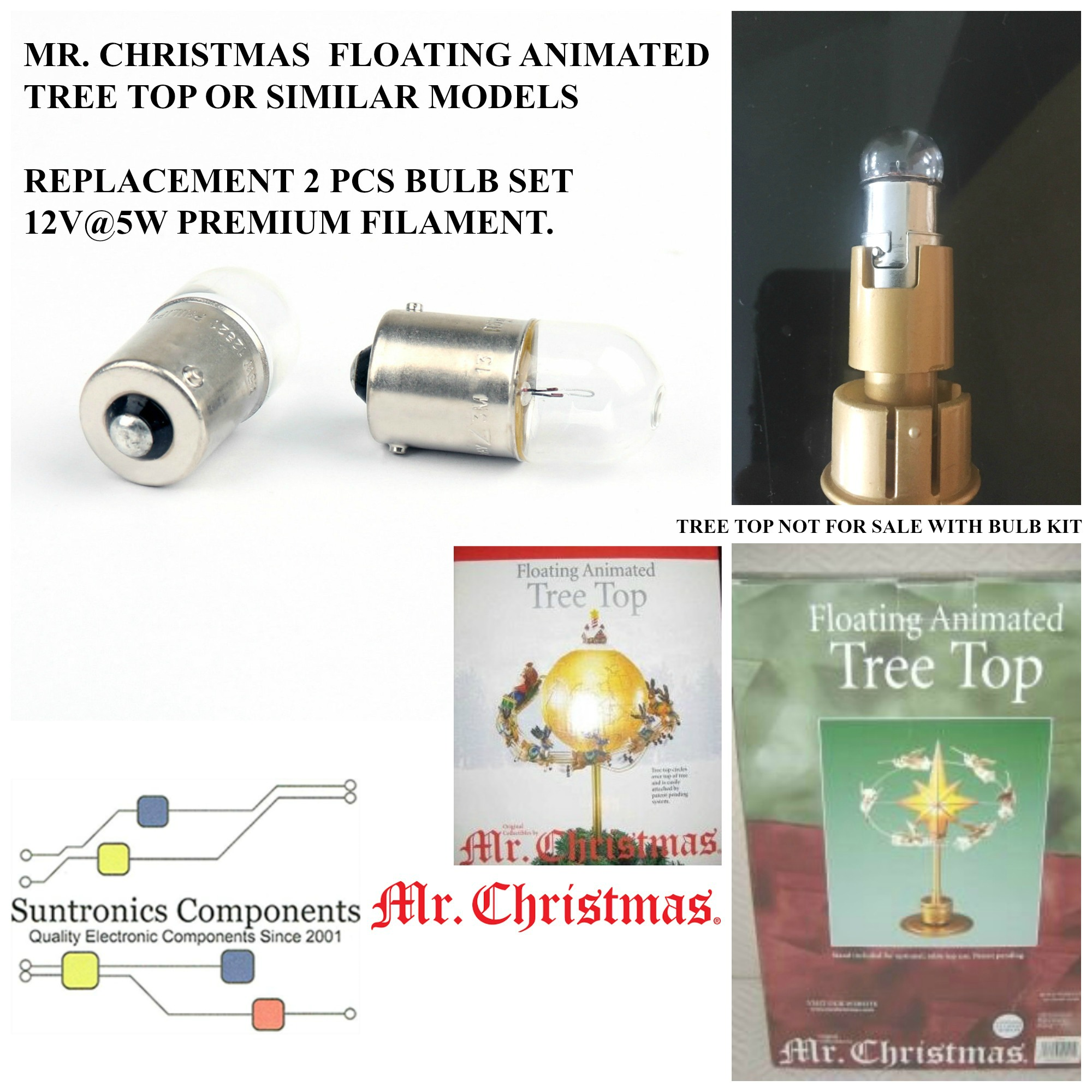mr christmas floating animated 2 bulb ki