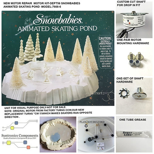 Department 56 Dept56 Snowbabies Animated Skating Pond - REPLACEMENT MOTOR- PARTS